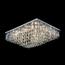 Hanging Glittering Crystal Prisms and Droplets Rectangular 11.8