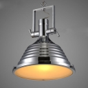 "Chic and Elegant 17.7""Wide Industrial Pendant Light Finished in Chrome"