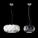 Round Diamond Shaped Glass Mini Pendant Light