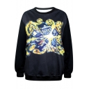 Explosive House Print Black Sweatshirt