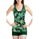 Marijuana Leaves&Shark&Fairy Tale Print Tanks