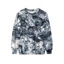 3D Tinfoil Pattern Print Sweatshirt