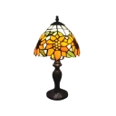 Art Glass Style Sunflower Pattern Tiffany Table Lamp with One Light
