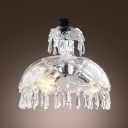 Empire Royal All Crystal  Mini Pendent Light Features Dome Shade and Prism Drops