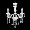 Stunning 4-Light Classic Candle Style Crystal Chandelier Shine with Glistening Crystals