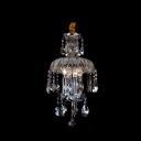 Glittering Beautiful Crystal Droplets Embellished 15.7'' High Crystal Mini Pendant Light Creating Sophisticated Look
