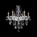 Stunning Hand-Cut Clear Crystal Chains and Pendaloques Splendid Chandelier