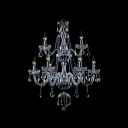 Double Tiered Glittering Clear Crystal 8-light Chic and Elegant Chandelier