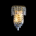 Give Your Wall Decor a Boost with Elegant Gold Finish Crystal Wall Sconce