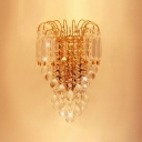 Graceful Scrolls Crystal Wall Sconce Offers Dramatic Addition to Your Decor