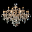 Elegant and Romantic 15-Light Large Dining Room Luxurious Chandelier Lights