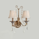 Wonderful Two-light Wall Sconce Features Ttraditional Design and Warm Comforting Crystal Accents