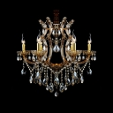 Decorative and Elegant Crystal Chandelier Finished in Gold Enhanced Touch of Regal