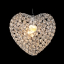 Romantic and Chic Heart Crystal Beads Embedded Mini Pendant Lighting