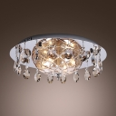 Add Exquisite Luxury to Your Home Decor with Distinctive Crystal and Chrome Flushmount Ceiling Light