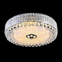 Crystal Diamond Beads Embedded Metal Shade Hanging Crystal Balls Flush Mount