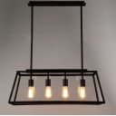 Large Lantern Industrial LED Pendant with Trapezoid Iron Outshape