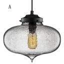 Rough Glass Vintage LOFT Industrial Pendant Light