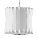Lantern Silk Pendant Lamp in White by Designer