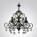 Swirl Crafted Scrolls Wrought Iron 5-Light 22.8