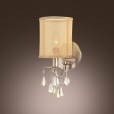 Grand Bold Wall Sconce Makes Stunning Statement and Smooth Clear Crystals Shine
