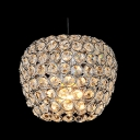 Warm and Chic Apple Shaped Mini Pendant Light Embedded by Sparkling Crystals