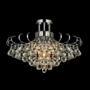 Brilliant Design Functional and Beautiful Crystal Semi-Flush Mount with Metal Curing Frame