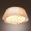 LED Flower Shaped Contemporary Flush Mount Lighting Shine with Clear Crystal Balls