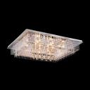 Aluminum Rods Rainfall Splendid Crystal Accented Flush Mount Lighting
