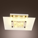 Majestic and Warm  Crystal Small Globes Hang Together Square Flush Mount Lighting