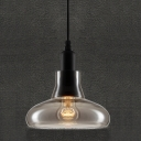 Smoke Grey Vintage Industrial LOFT Glass Pendant 20CM