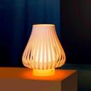 White Onion Shape Table Lamp by Designer Lighting