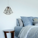 Whimsical Iron Cage Style Pendant Lighting in Black
