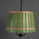 Bold Design Natural Style Wooden Caged Designer Large Pendant Light