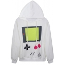 Lovely Adventure Time Print Hoodie with Long Sleeve