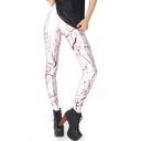 Peach Blossom Tie Dye Print Fashion Leggings
