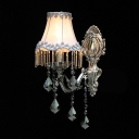 Exquisite Classic Silver Finish and Crystal Drops Add Glamour to Sophisticated One-light Wall Sconce