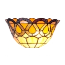 Single Light 12 Inches Wide Wallwasher Featuring Tiffany Glass Shade