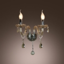 Sparkling Design Exhibits Unique Style and Elegant Presence to Crystal Wall Light Fixture