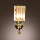 Crystal Glass and Contemporary Look of  Dazzling Wall Sconce Add Elegance to Any Area.