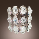 Confident Wall Sconce Thrills Sparkle of Hand-cut Crystal