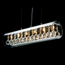Breathtaking Crystals Embedded in Clear Glass Tube Formed Sparkling 6-light Pendant