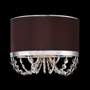 Offer Sophisticated Look to Your Walls with Sconce Featuring Strands of Crystals and Elegant Brown Shade