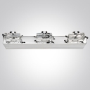 Modern Decorative Style Two-light Bathroom Light Glistens with Ravishing Clear Crystal