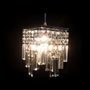 Exquisite Mini Pendant Light with Carefully Arranged Clear Crystals Creating Shining Shimmering Effect