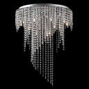 Glittering Clear Crystal Beaded Strands Curtain 21.6
