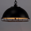 Industrial Retro Black Pendant Light with A Protective Guard