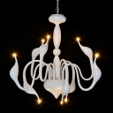 LED Modern Swan Chandelier With 9 Lights