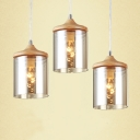 Round Stainless Steel Canopy Hanging In Designer Style,3 Lights