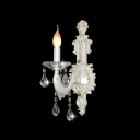 Glistrening Fish-like Sleek Arm Wall Light Fixture with Clear Crystal